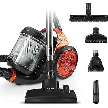 Polti Forzaspira C130_Plus Aspirapolvere Ciclonico, Senza Sacco, 700 W, 1.8 L, 76 dB, Arancione/Nero