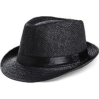 Coucoland Panama - Cappello estivo da uomo Fedora Trilby Bogart, cappello da sole in paglia di carta, da spiaggia, da…