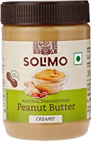 Solimo Natural Unsweetened Peanut Butter, 500 g
