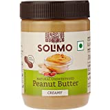 Amazon Brand - Solimo Natural Unsweetened Peanut Butter , Creamy , 500 g