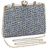 UBORSE Abendtasche Damen Clutch Bag Kette Tasche Klein Handtasche Elegant Geflochten Umhängetasche für Hochzeit Party…
