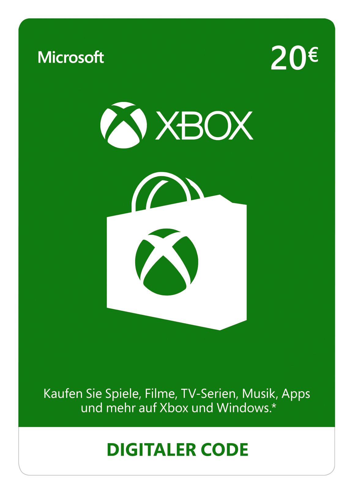 Xbox Live - 20 EUR Guthaben [Xbox Live Online Code] [PC Code - Kein DRM]