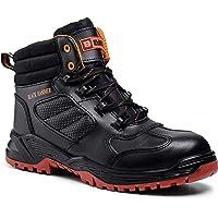 Black Hammer Mens Leather Safety Boots Composite Toe Cap Kevlar Non Metallic Metal Free Lightweight S3 SRC Slip…