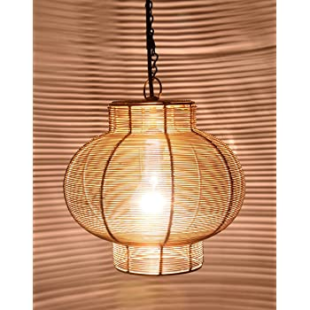Design Villa Iron Hanging Ceiling Lamp B22 Holder (Gold, Ahlamp113)