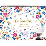 Calendar 2021-2022 - 18 Months Family Calendar With Week Count, July 2021 - December 2022, 37.6 x 29 cm, Back Pocket, Wire-Bo