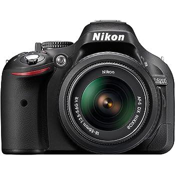 """Nikon D5200 - Cámara réflex digital de 24.1 Mp (pantalla 3"""", grabación de vídeo), color negro - kit con objetivo AF-S DX 18-55mm f/3.5 VR (importado)"""