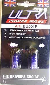 Ultra 2x Power 5w Auto Scheinwerfer Side Birnen Weiß Blau 501 W5w T10 Bu501p Auto