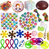 Gmajtars Fidget Sensory Toy Pack, Sensory Fidget Bubble Toys Set de Juguetes Sensorial Burbujas Antiestrés Fillet Fifget Fige