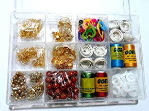 Am Silk Thread Earring/Jhumka Making Kit- All Jhumka Making Materials- Makes Different Shape Of Earrings With Storage Box