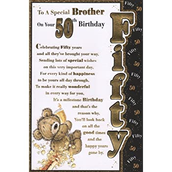 Brother 50th Birthday Card