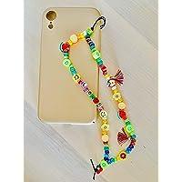 """Phone strap perline charm""""Color"""", personalizzato con lettere e nome. Porta cellulare da polso e gioiello per il tuo…"""