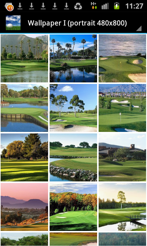 Golf Course Hd Wallpaper Soundboard Amazon Co Uk