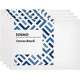 Amazon Brand - Solimo Medium Grain Cotton Canvas Board, 6 x 8 inch, Set of 4