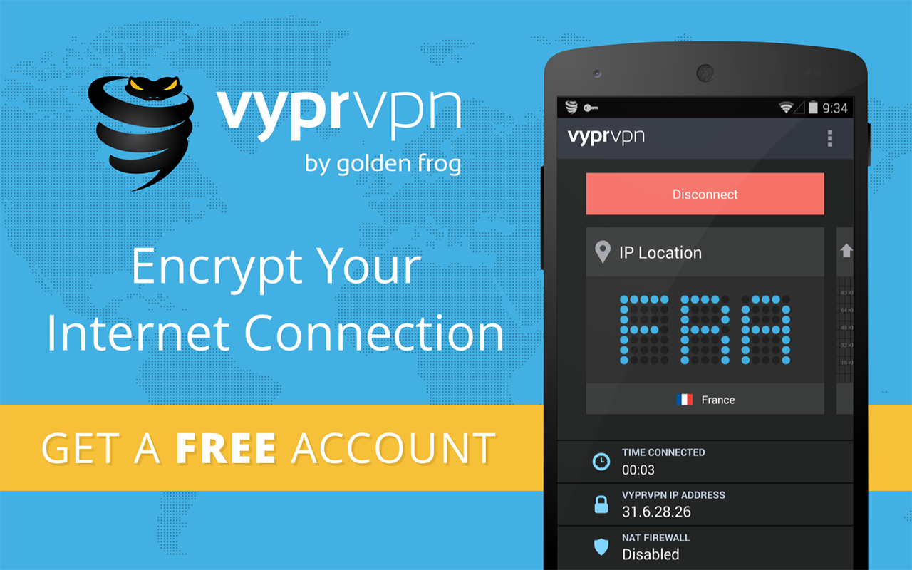 VPN - Fast, Secure & Unlimited WiFi with VyprVPN