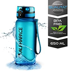 ALPHAPACE  Sport Trinkflasche 1000ml und 650ml – Getestet BPA Frei und auslaufsicher – Premium Sportflasche – für Sport, Schule, Reisen, Outdoor und Freizeit – 100% Zufriedenheitsversprechen