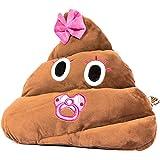 Haufi® Emoji Kissen als süße Baby-Variante, Smiley Kackhaufen | Plüsch Geschenk, Größe 35x13x31 cm