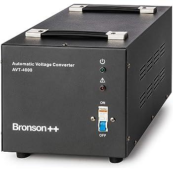 Bronson++ AVT 4000 - Transformador de 110/120 Voltios Convertidor de Voltaje EE.UU. - 4000 Vatios - Núcleo Toroidal Elevador / Reductor - Bronson 110V 120V ...