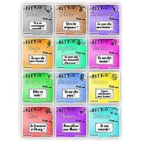 Carte à gratter personnalisable ASTRO - Message au choix - Annonce grossesse ou événement - Modèle ticket de jeu - 12…
