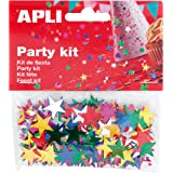 APLI - Bolsa confeti estrellas color 15 mm 14g