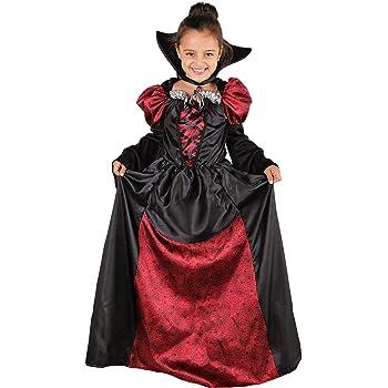 Lady Vampira Costume Vampira Bambina Halloween inclusivo di Vestito da  Vampira con Colletto - Costume Ragazza 49168b58cdfc