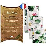 Halton PSC Bee Wrap | Lot de 3 Emballages Cire d'Abeille | Emballage Alimentaire écologique et Réutilisable | 100% Bio et Nat