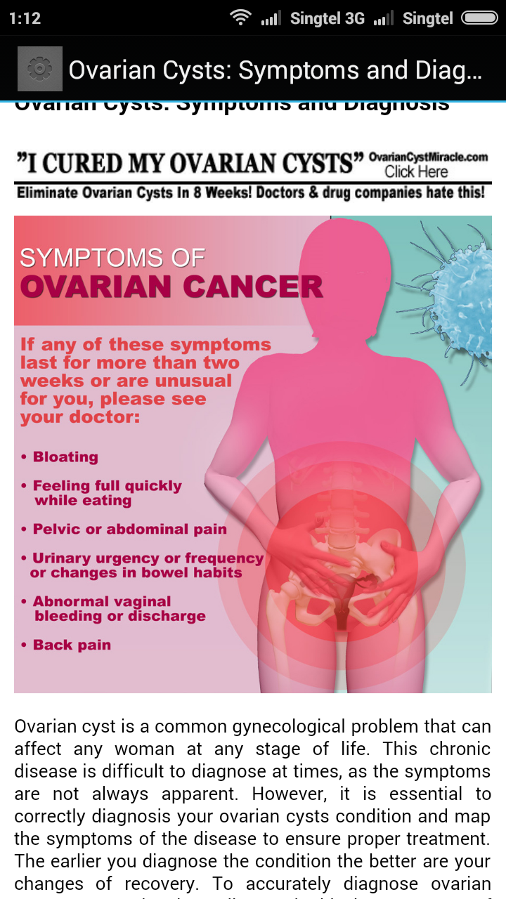 Ovarian Cyst Natural Treatment: Amazon.co.uk: Appstore for ...
