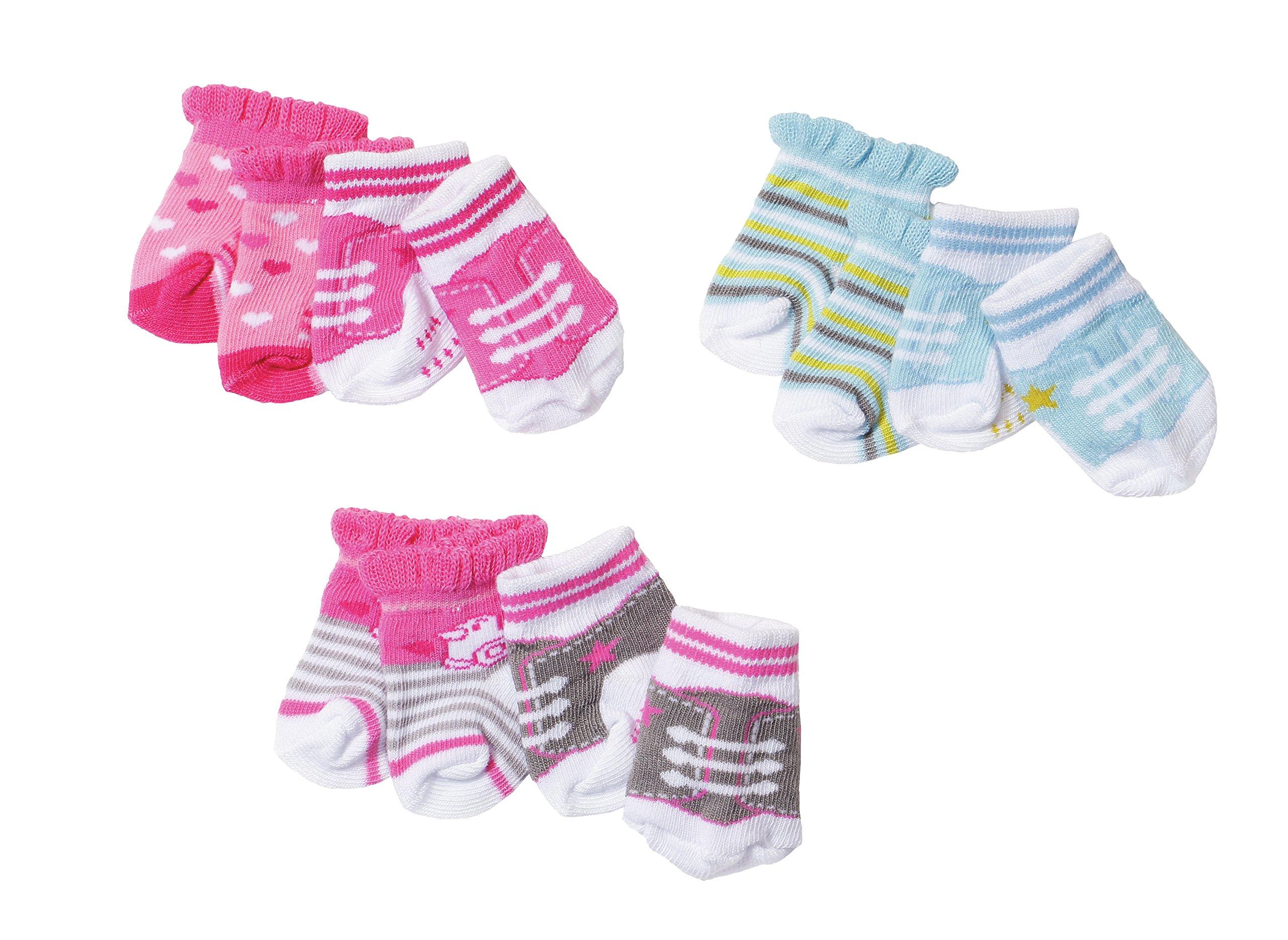 BABY born Socks, 2 pack Calcetines de muñeca - Accesorios para muñecas (2 pack, Calcetines de muñeca, 3 año(s… 1