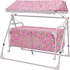 New Born Baby Swing Cradle With Mosquito Net and Canopy Best Baby Cribe For Your Baby Boy , Girl Recommended for 0 to 18 months (Pink) Recommended for baby cradle, baby cradle swing, baby cradle with mosquito net, baby cradle spring, baby net cradle swing, cribs and cradles, baby swinger, baby swing, baby swing bed, baby sleeping swing, new born baby cradle, kids cradle, newborn baby cradle, newborn baby bassinets