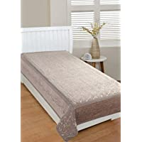 ROUGE 500 TC Chenille for Only Single Bedcover-( Bedsheet Size- 60 inch x 90 inch or 152 cm x 228 cm, )