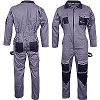 NORMAN Grey Men's Coveralls Boiler Suit Overalls for Warehouse Mechanics Work Wears