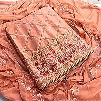 Skycrue Women's Cotton Unstitched Salwar Suit Dress Material Free Size