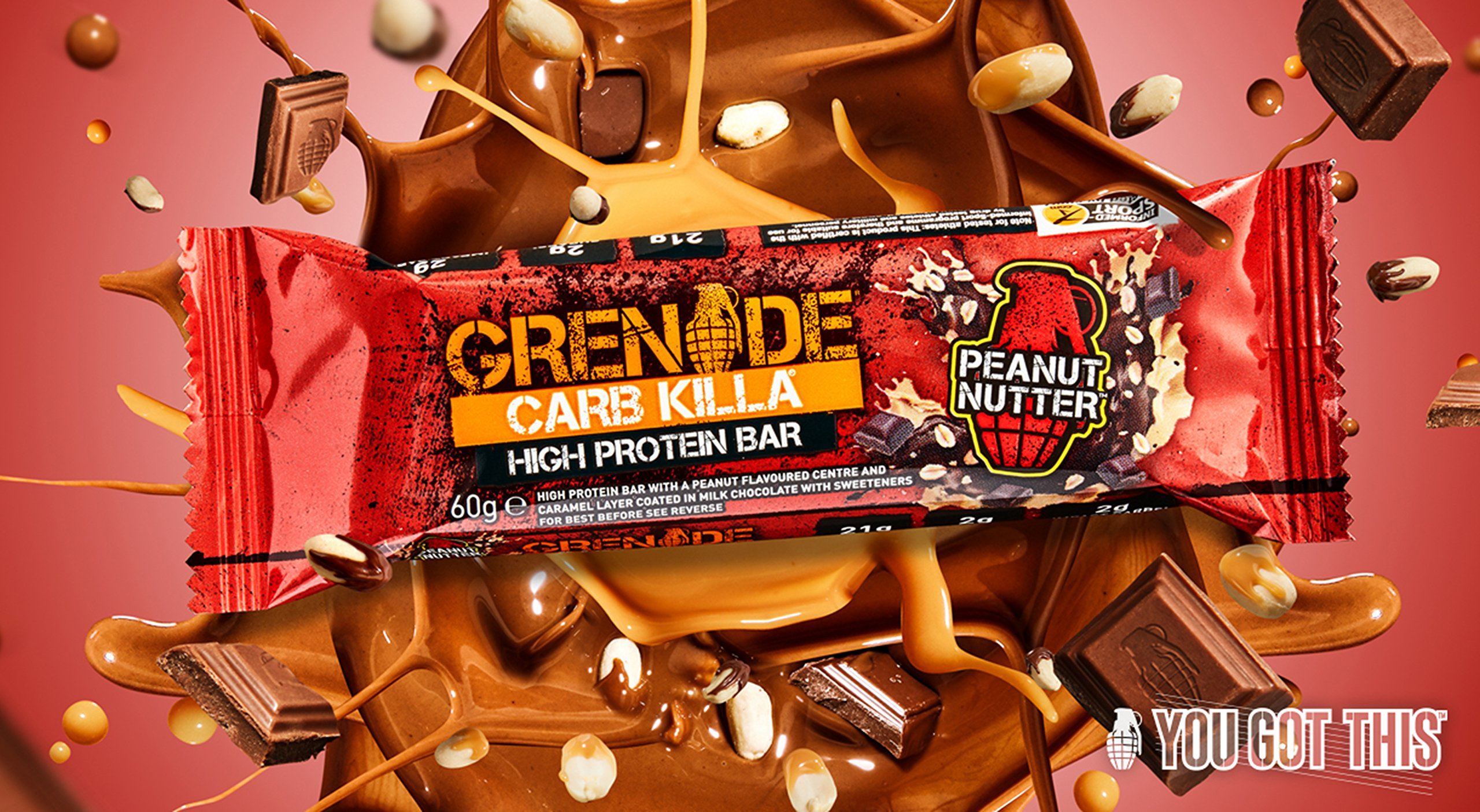 Grenade - Carb Killa Protein Bar Peanut Nutter - 12 Bars 7