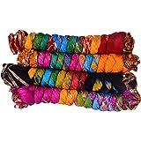 jyoti Women's Silk Dupatta(sc-170_Multicolour_2.25m) - Pack of 4