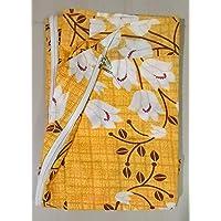Everwey Enterprise 100 % Cotton Box Mattress Zipped Cover / Protector ( Size 4 feet x 6 feet x 4 inch) / 72 inches x 48…