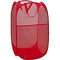 Kuber Industries Nylon Mesh Laundry Basket,20Ltr (Multi)-CTKTC021504