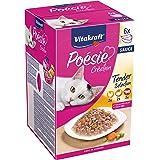 Vitakraft - Poésie Sauce, Pack de Menús en Salsa para Gatos, Variedades Pollo, Ternera y Pavo - 6 unidades x 85 g