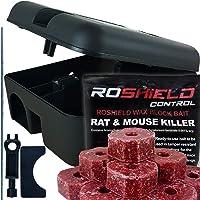 Roshield External Tamper Proof Rodent Boxes & Wax Bait Rat Killer Block Kit (1 Box & 300g Blocks)