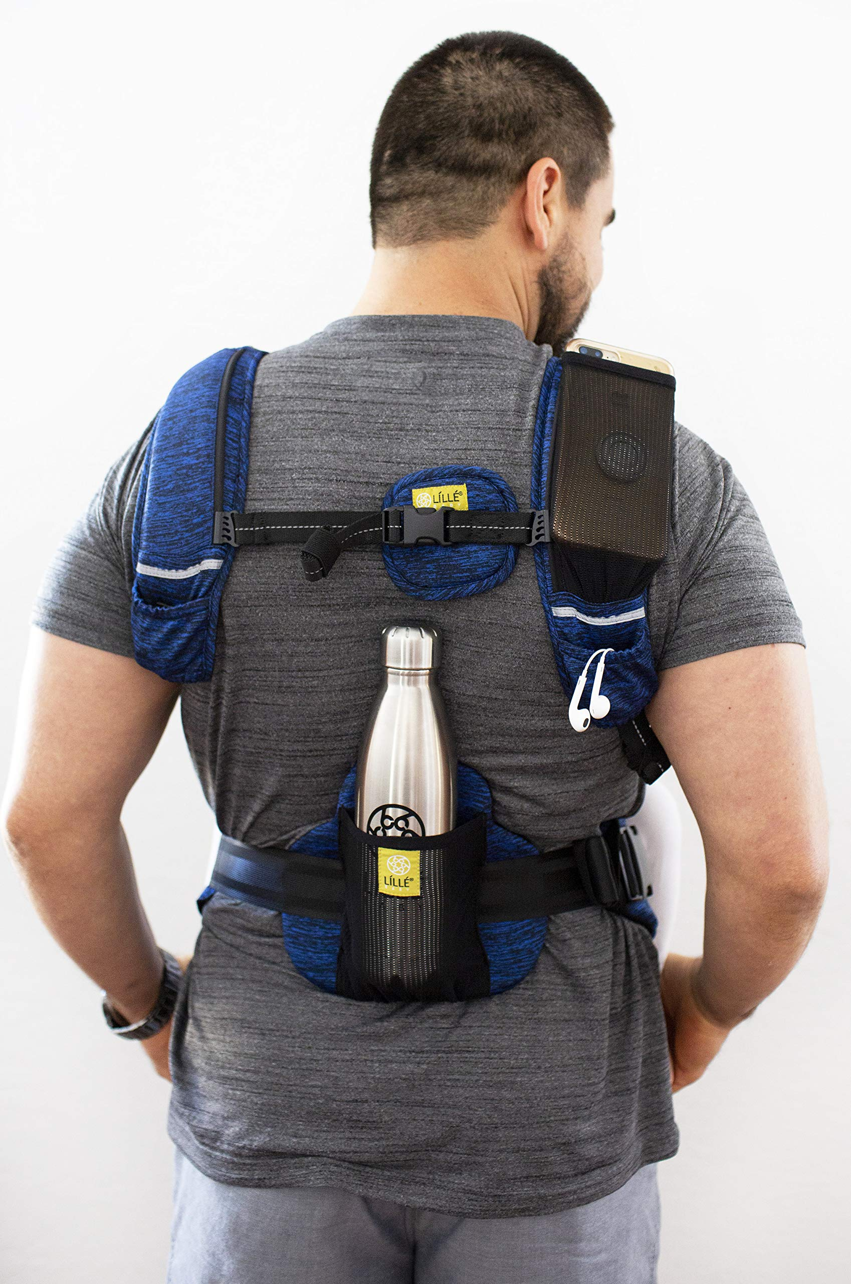 LÍLLÉbaby Complete Pursuit Pro 6-in-1 Baby Carrier Heathered, Sapphire Lillebaby Designed specifically for parents on the go, our pusuit series combines the comfort and functionality of our 6 in 1 design with adventure-ready features to help you show your little one the world Suitable from birth to 4 years, the active pro has a perfect combination of responsive fabric, advanced ergonomic fit, and innovative safety upgrades make it the ideal tool for all-weather exploring Unique líllébaby lumbar support for the wearer, with wide padded waist belt and shoulder straps 2