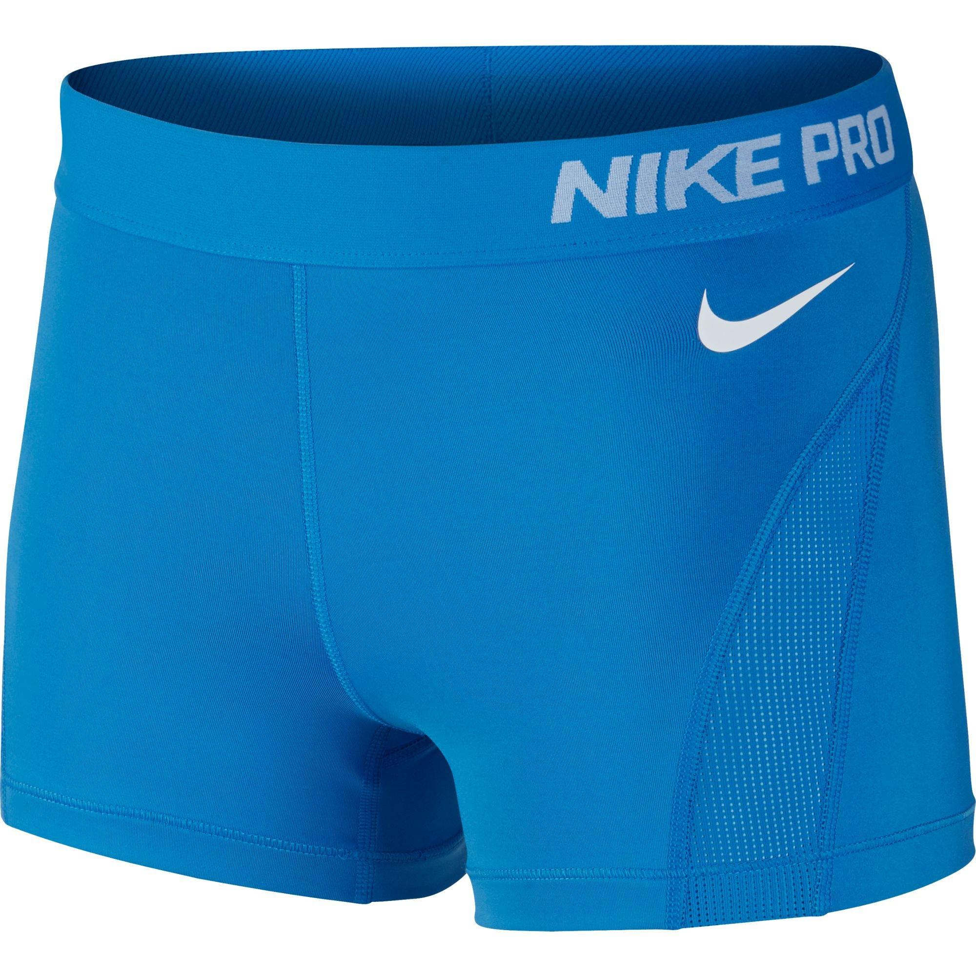 Nike Nike Pro Hyper cool 3Short–Lt Photo Blue/White, multicolore, XL