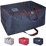 DOKEHOM 100L Sacs pour vêtements, étanche épais surdimensionnée Organiseur Sac de rangement, Sac de Voyage (Bleu)