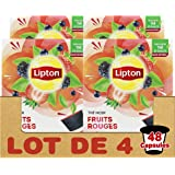 Lipton Thé Noir Fruits Rouges, Capsules Compatibles Nescafé Dolce Gusto Label Rainforest Alliance 48 Capsules (Lot de 4x12 Ca
