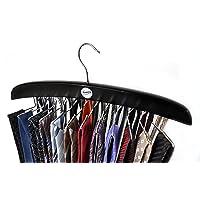 SUNNY SUNDAY ® Cintre porte-cravates classique en bois certifié FSC ® à 24 crochets, Rotatif Twirl, Ceinture Écharpe…