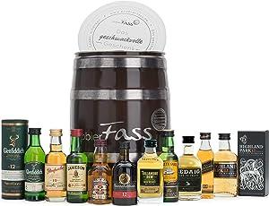 probierFass Whisky Set | 10 beliebte Whisky Klassiker (10 x 0.05 l) in einem originellen Fass mit Geschenkverpackung | Whiskey Probierset | Whisky Geschenk