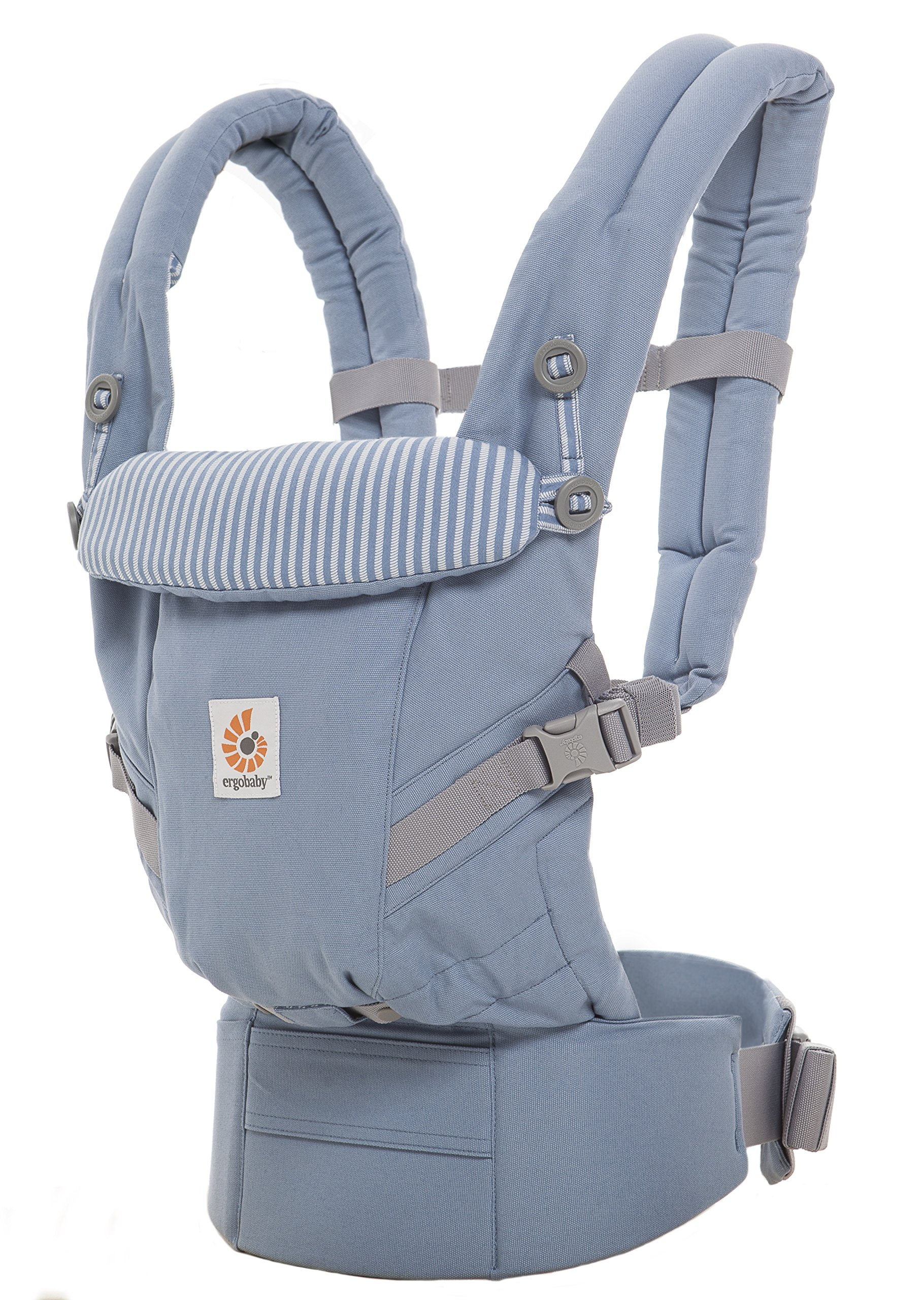 Ergobaby Baby Carrier for Newborn to Toddler up to 20kg, Azure Blue 3-Position Ergonomic Child Carriers Front Backpack  Ergobaby