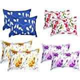 "BSB HOME® Cotton 8 Piece Cotton King Size Pillow Cover Set - 20""x30"" Assorted Collection"