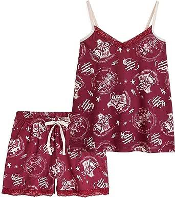 Idee Regalo Natale HARRY POTTER Pigiama Bambina in Cotone Due Pezzi 7-14 Anni Abbigliamento Ufficiale