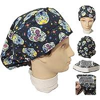 Cappello sala operatoria TESCHI MESSICANI per Capelli Lunghi, chirurgia dentista veterinario cucina Asciugamano davanti…