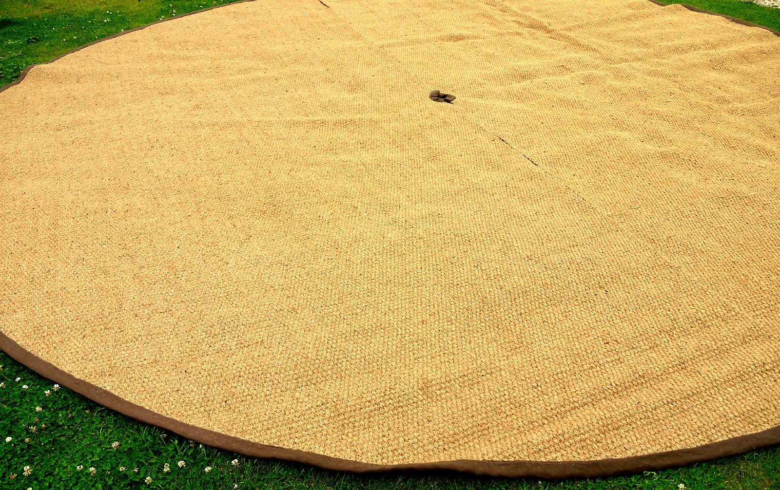 Bell Tent Coir Semi Circle Mat 1