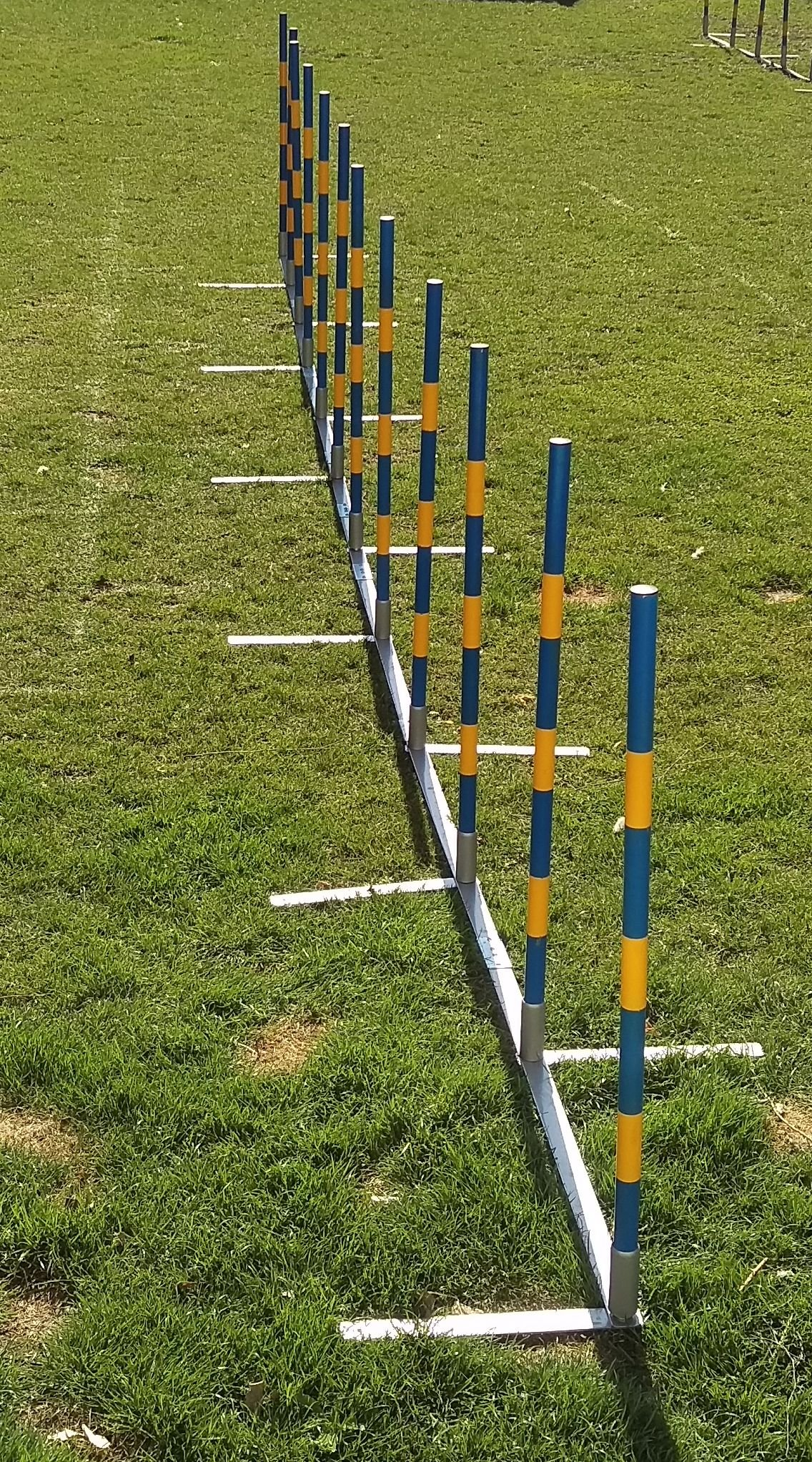 Introductory offer: dog agility weave poles 12X60cm straight weaves for training and kennel club competition