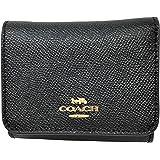 Coach Signature Small Compact Tri-Fold Wallet Black F41302